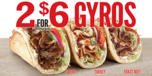 Arby's 2 for $6 Gyros