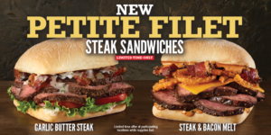 Arby's New Petite Filet Steak Sandwiches