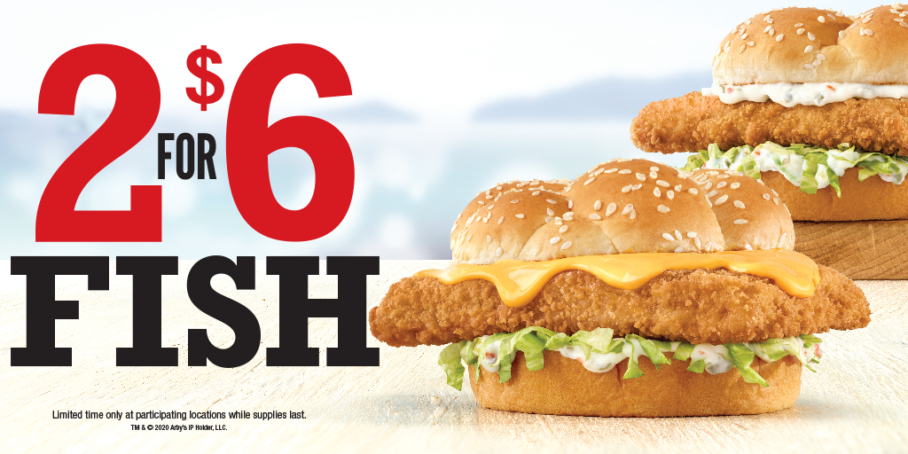 Arby's 2 for $6 Fish Sandwiches