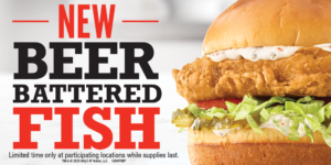 Arby's New Beer Battered Fish