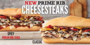 Arby's New Prime Rib Cheesesteaks