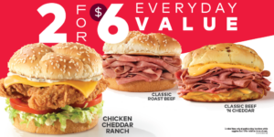 Arby's 2 for $6 Everyday Value ('21)