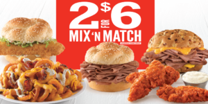 It's Back (for a limited time)! Arby's 2 for $6 Mix 'n Match