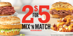 Arby's 2 for $5 Mix 'n Match