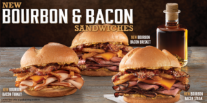 Arby's New Bourbon & Bacon Sandwiches