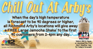 If you can't stand the Heat, Chill Out at Arby's…