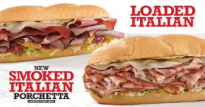 Arby's New Smoked Italian Porchetta & Loaded Italian